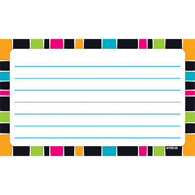 Stripe-tacular Groovy Lined Terrific Index Cards™