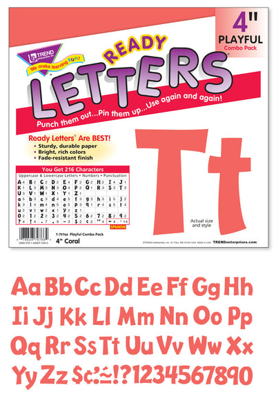 Coral 4-Inch Playful Uppercase/Lowercase Combo Pack (EN/SP)