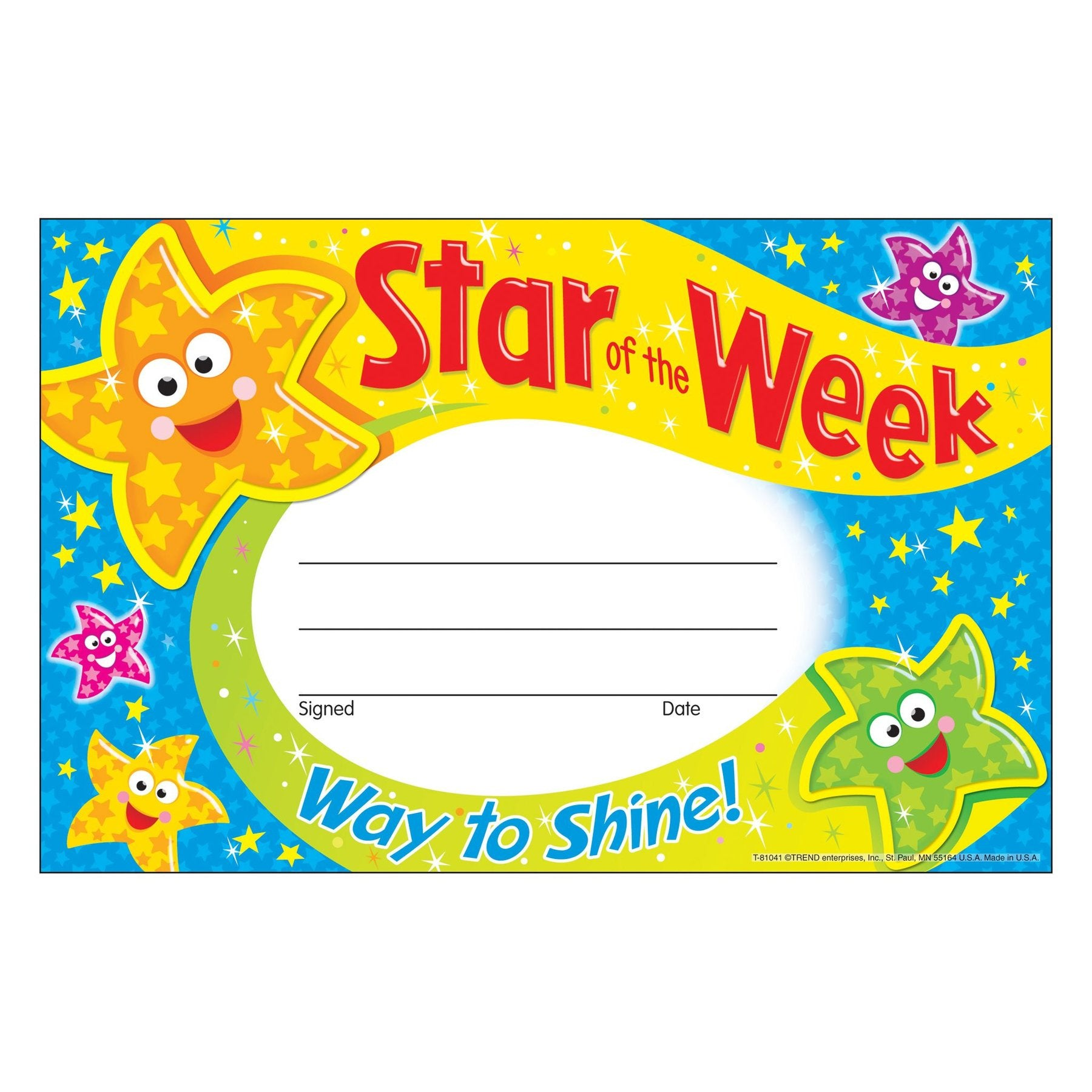 Star of the Week—Way to Shine! Recognition Awards
