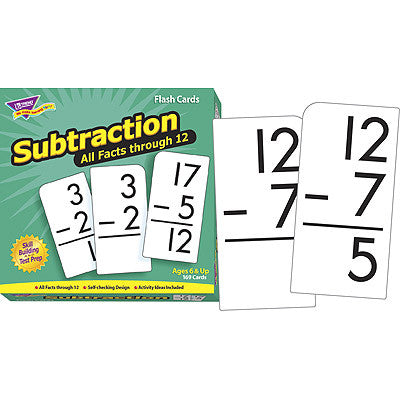 Subtraction 0-12 (All Facts)