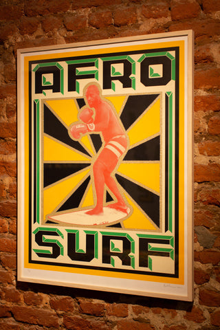Afrosurf Book Cover Screen Print