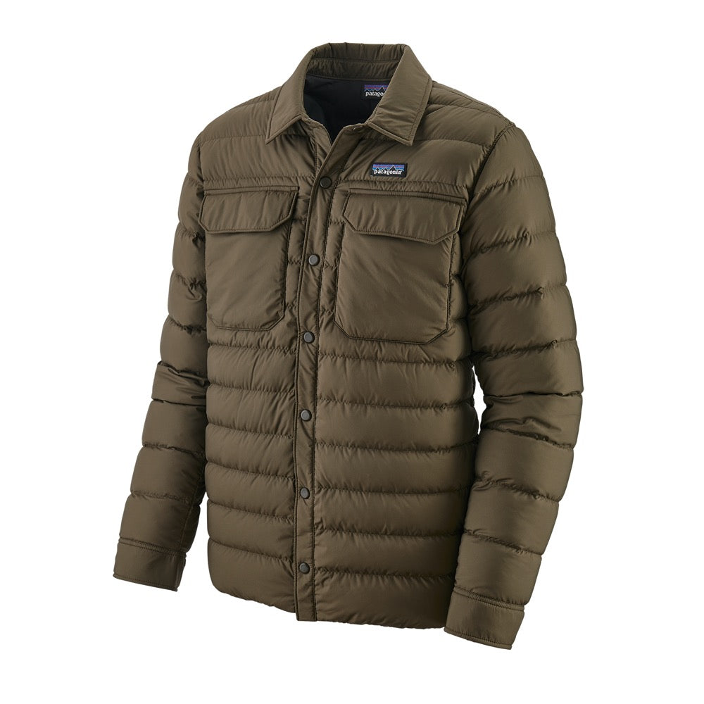Mens Silent Down Shirt Jacket