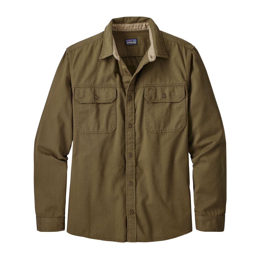 Mens Long-Sleeved Four Canyons Twill Shirt