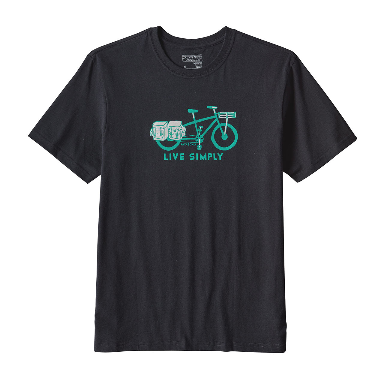 Mens Live Simply Cargo Bike Cotton T-Shirt