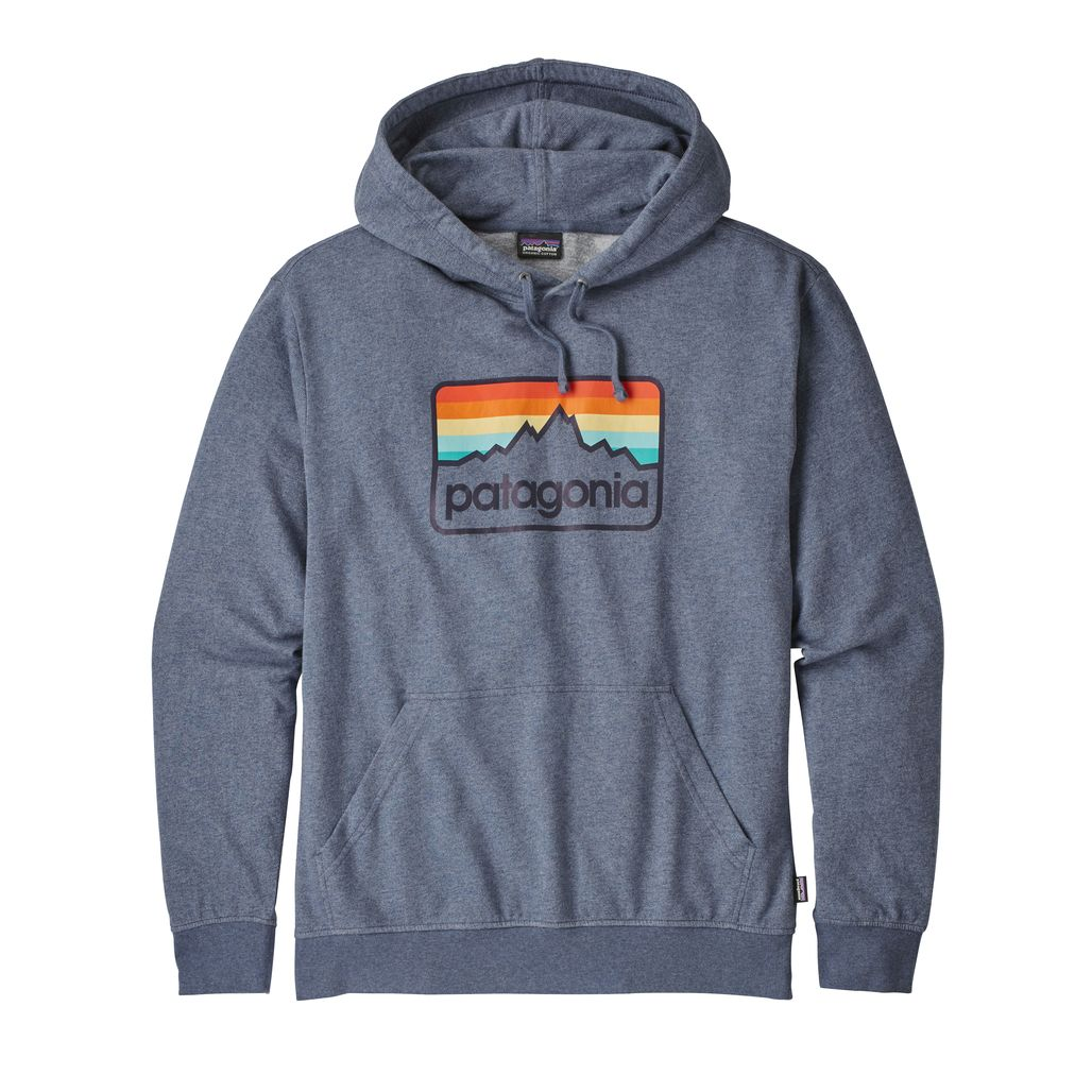 Mens Line Logo Badge Lightweight Hoody