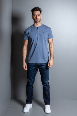 Mens Henley Neck T- Shirt