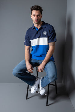 Mens Colour Block Polo Shirt