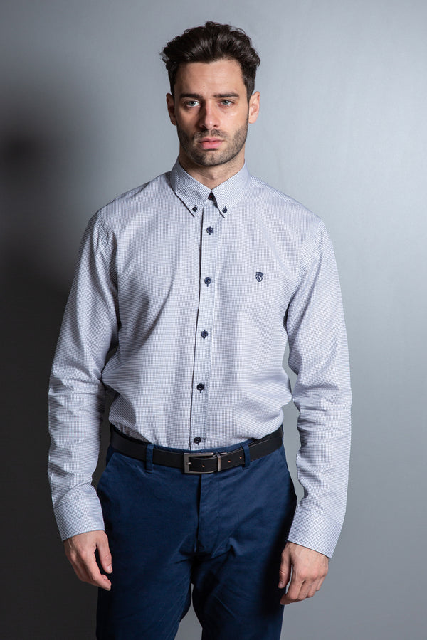 Mens Geometric Jacquard Design Shirt