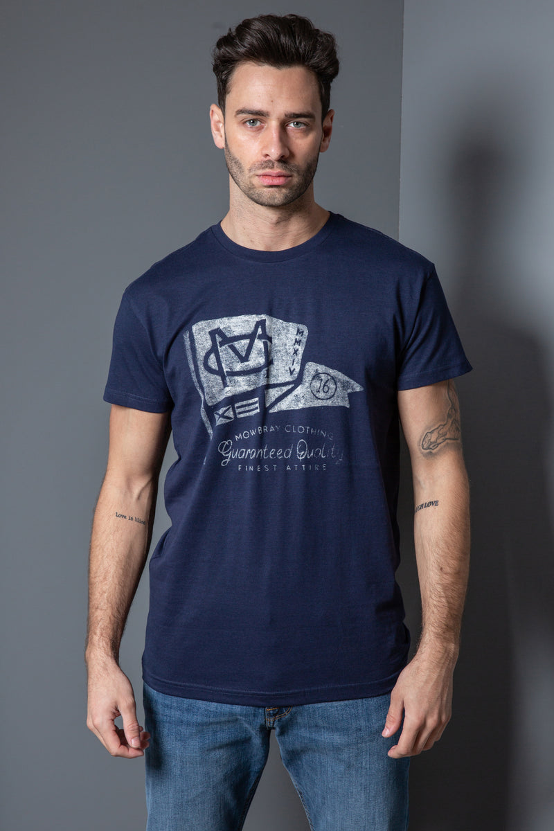 Mens Cotton Flag Print T-Shirt