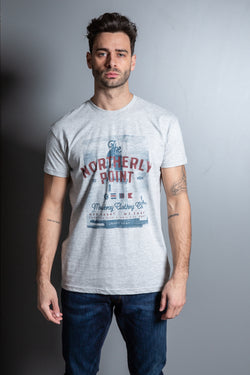 Mens Cotton Lighthouse Print T-Shirt