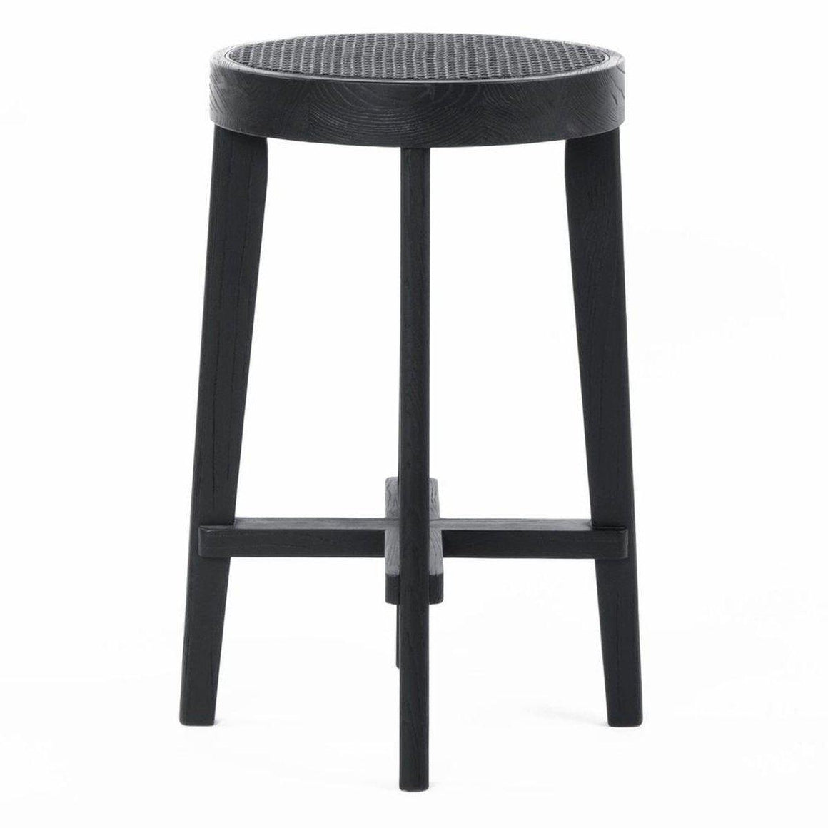 Cape Byron Rattan Bar Stool - Black Bar Stool Cafe Lighting