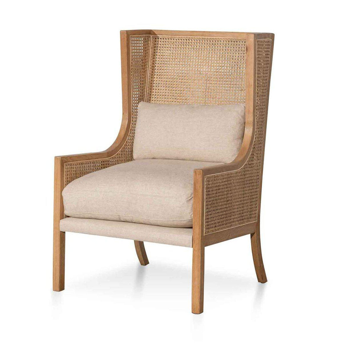 Lowell Wingback Rattan Armchair Armchair Calibre Furniture