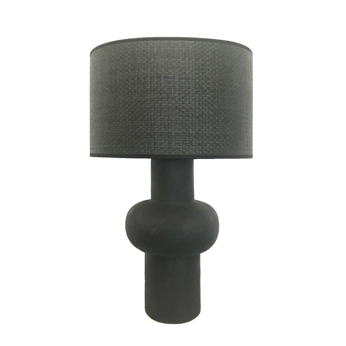 Oliver black wooden table Lamp - Black lighting MRD Home
