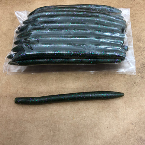 40ct STICK WORM Bulk Bag (Green Purp)