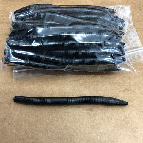 40ct STICK WORM Bulk Bag (Oil Black)