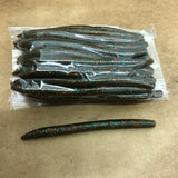 40ct STICK WORM Bulk Bag (Green W/ Bronze Teal Flake)