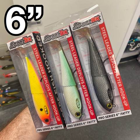 "THREE 6"" SpoolTek Swimbait Bundle - NEW ITEM"