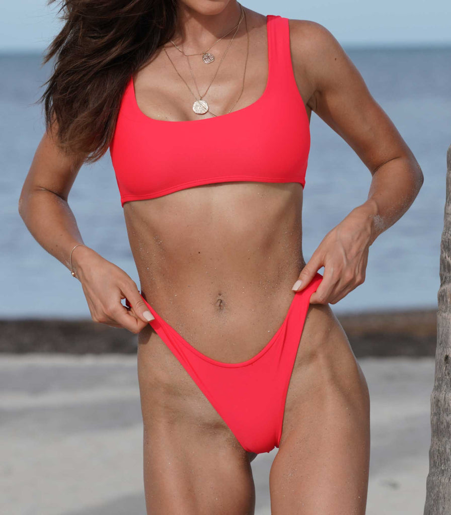Bali Top Poppy Red - Trukini Swimwear @trukiniswim trukini.com