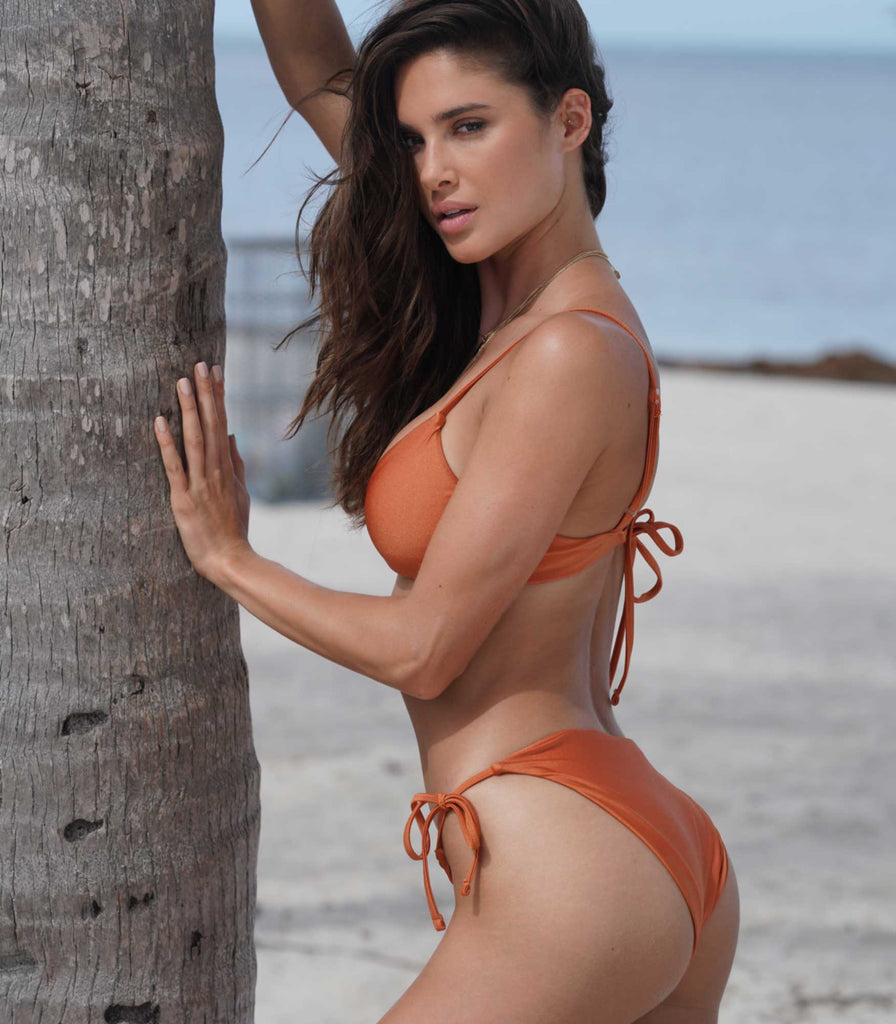 Cortez Bottoms Burnt Orange - Trukini Swimwear @trukiniswim trukini.com