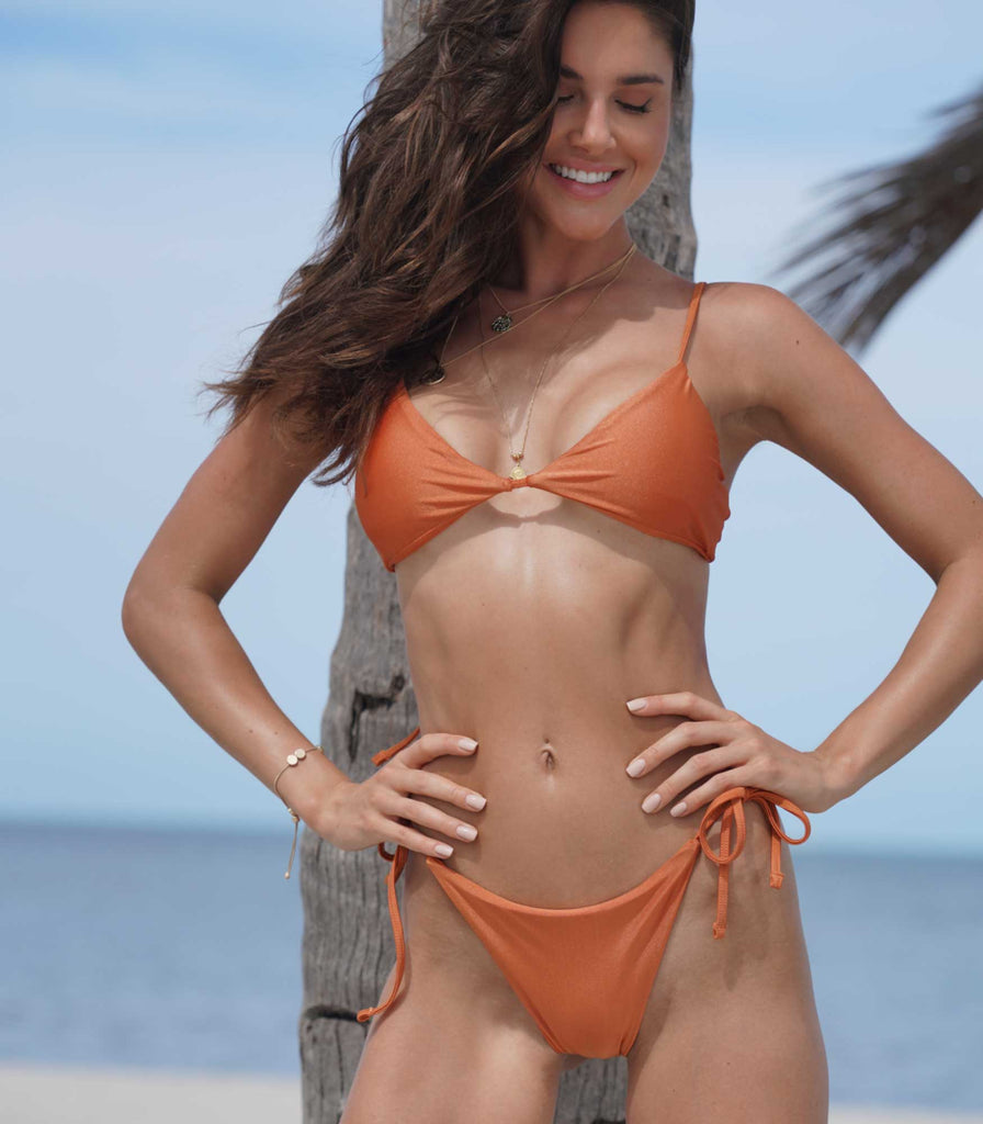 Cortez Top Burnt Orange - Trukini Swimwear @trukiniswim trukini.com
