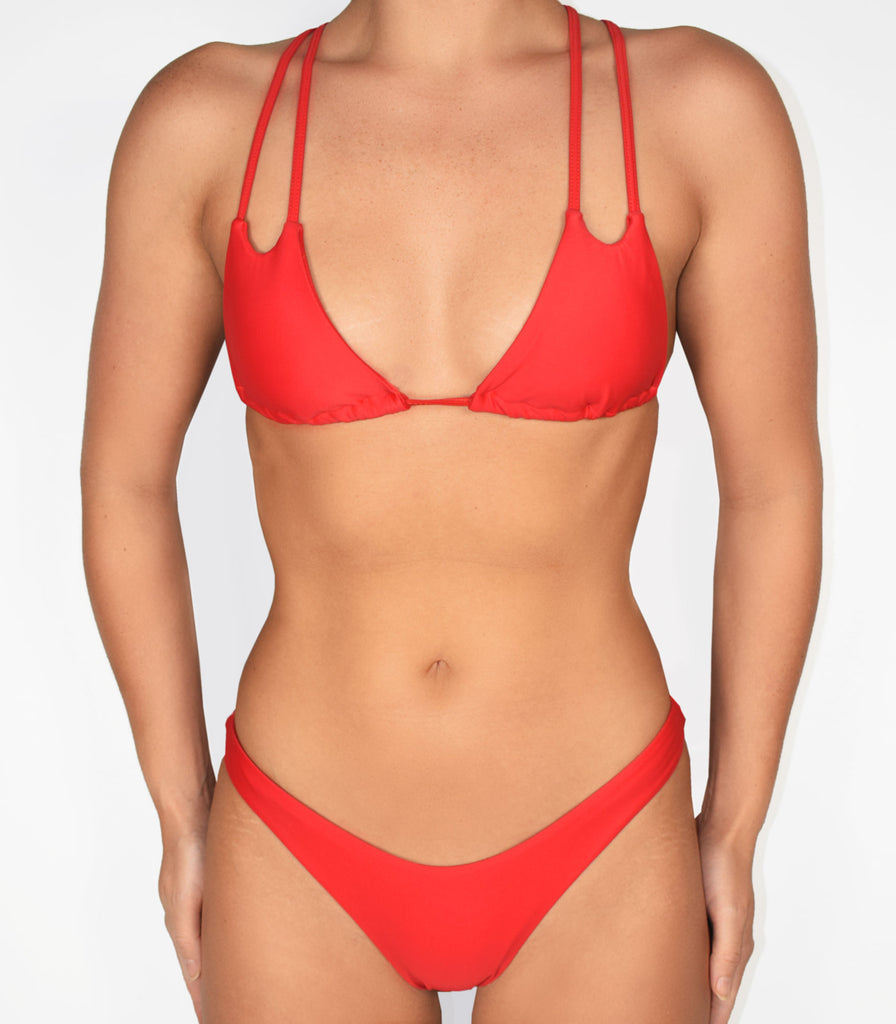 Baltic Top Ruby Red - Trukini Swimwear @trukiniswim trukini.com