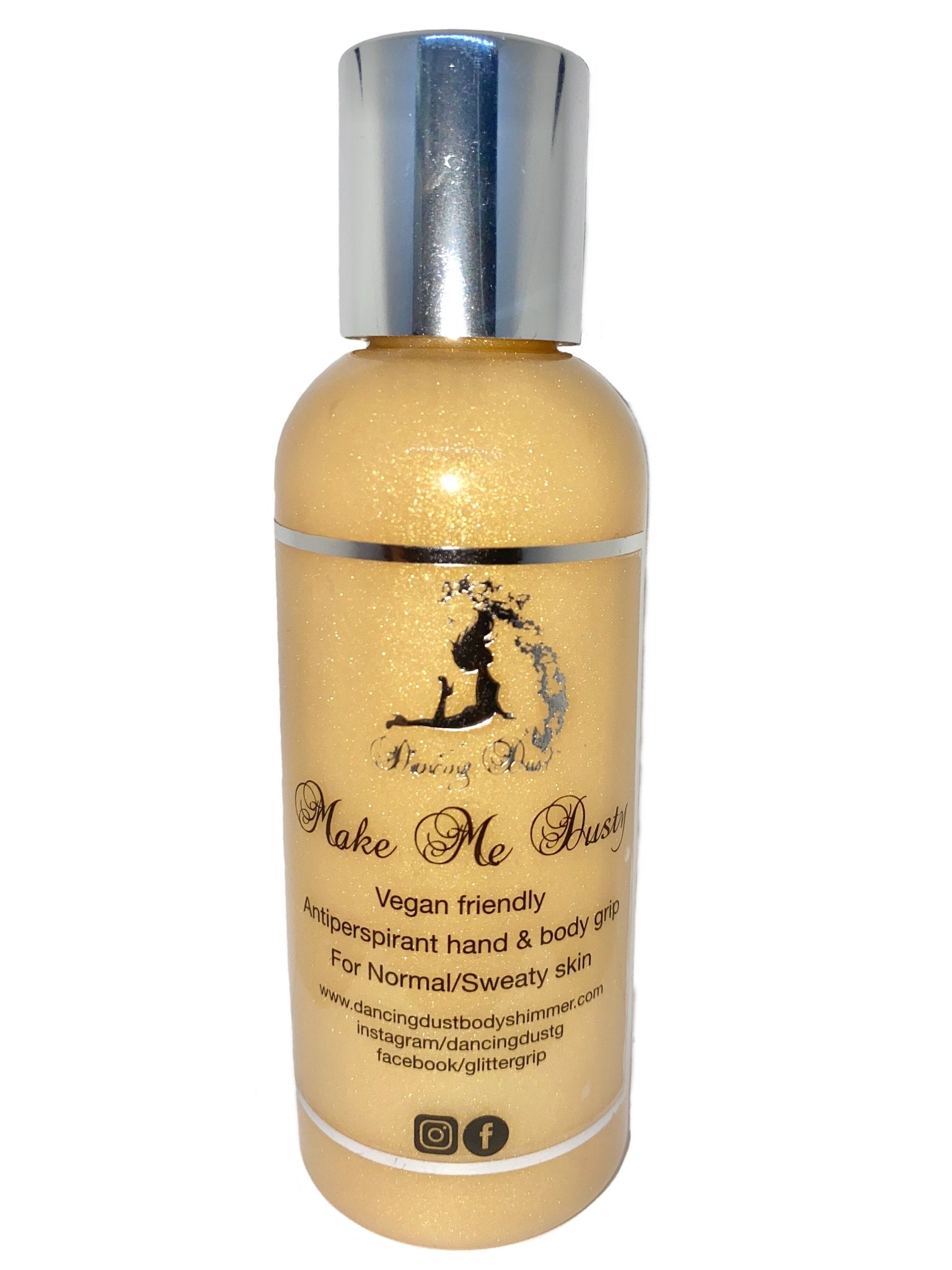 Dancing Dust- Make me Dusty - Antiperspirant pole grip aid for normal/sweaty skin 80ml - Gold