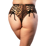 Hollywood High Waisted Short - Reversible Black & Leopard