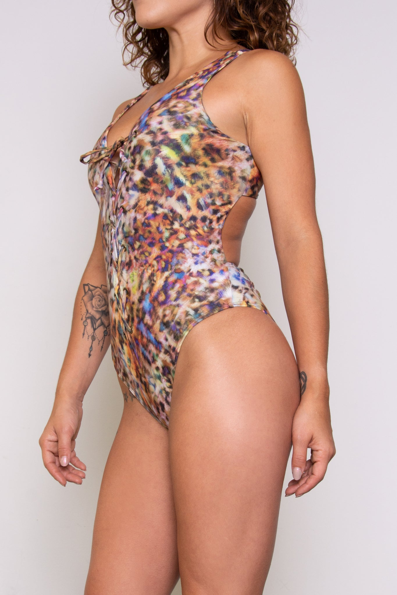 Claudia Renee Bodysuit - Colorful Kitty