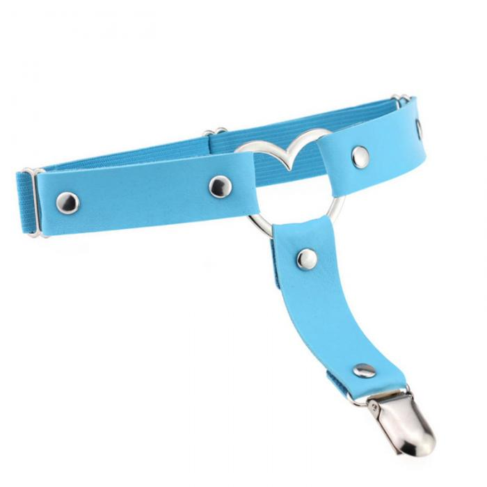 Heart Leg Garter - Light Blue