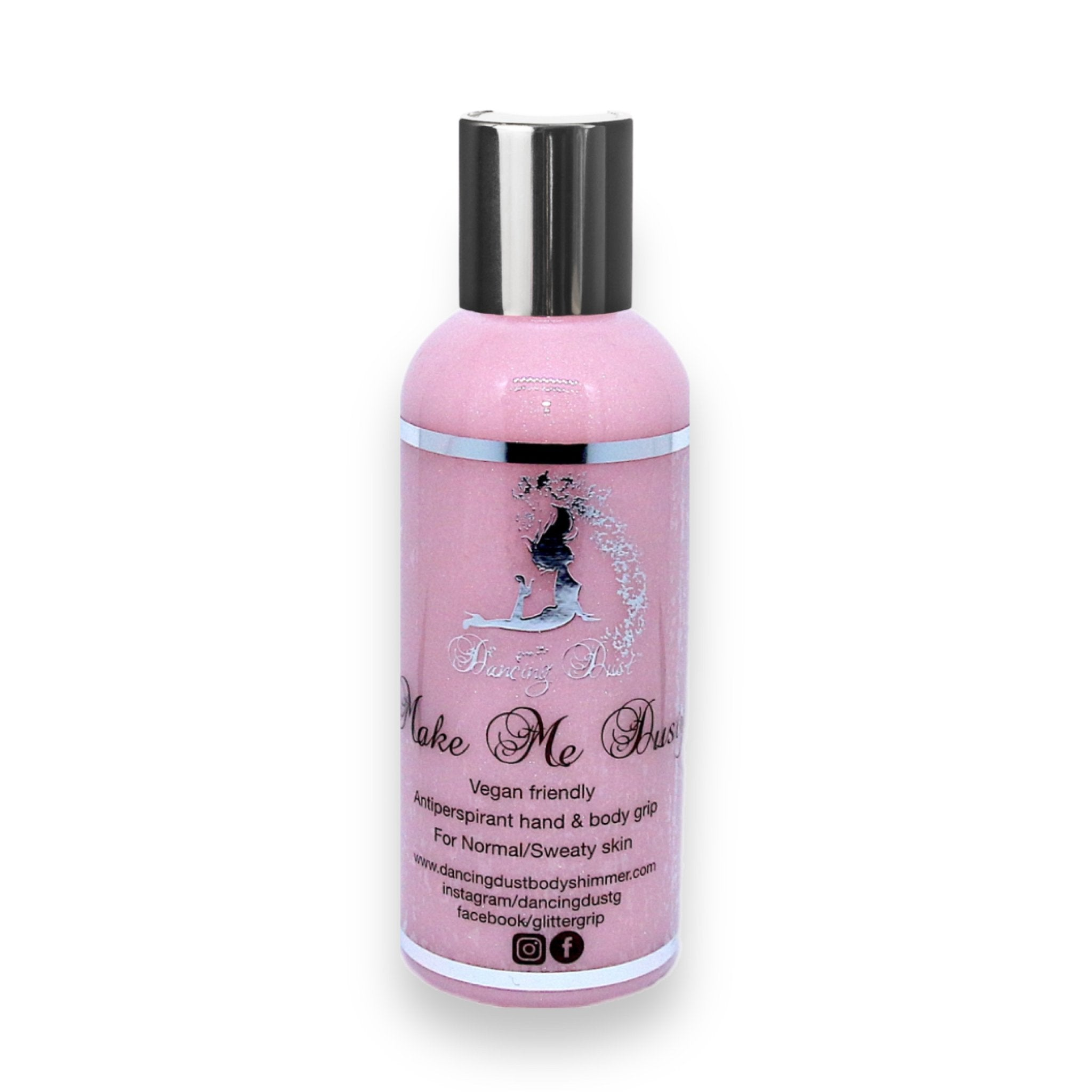 Dancing Dust- Make me Dusty - Antiperspirant pole grip aid for normal/sweaty skin 80ml - Pink