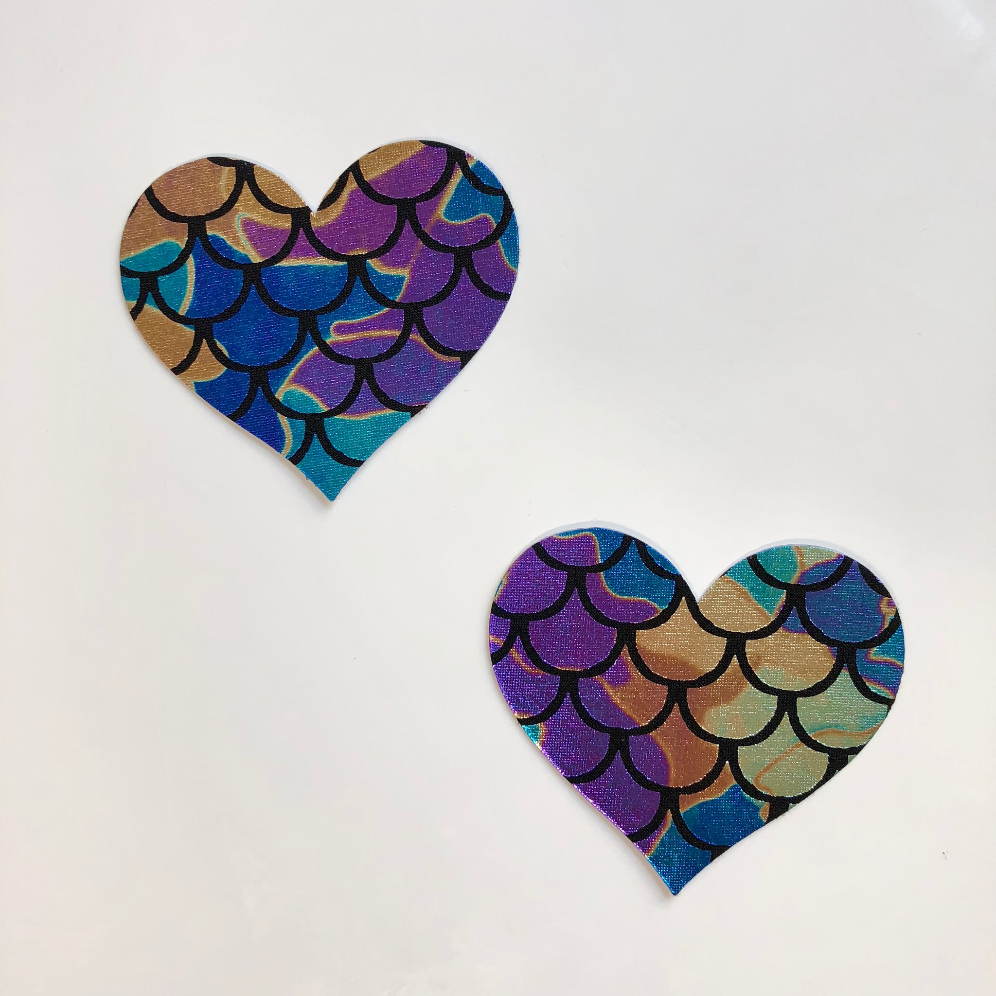Mermaid Heart Shiny Pasties
