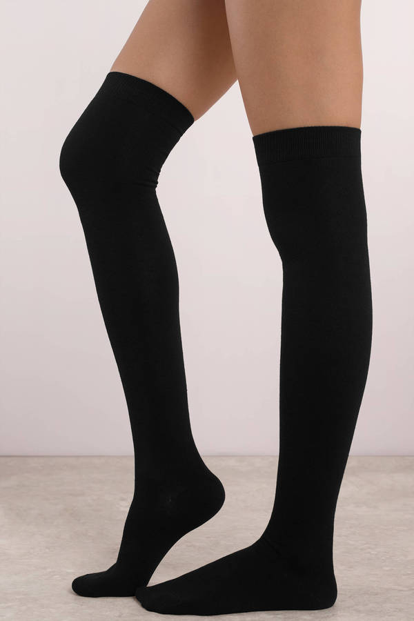 Thigh High Socks - Black