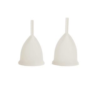 2 Pack Floweret ™ Clear Menstrual Cups -Floweret cup