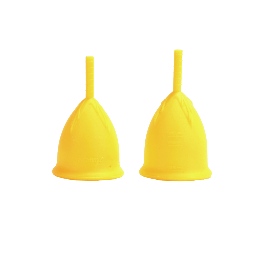 2 Pack Floweret ™ Yellow Menstrual Cups - Floweret Menstrual Cup