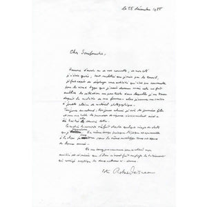 Carta manuscrita de Robert Doisneau (1988)