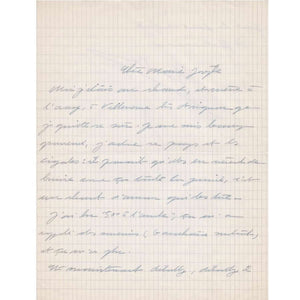 Carta manuscrita de Simone de Beauvoir para Marie-Jo Bonnet
