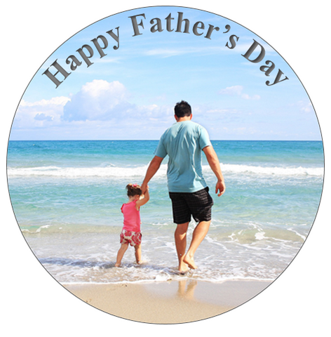 Edible photo | Fathers day cake topper | Gift for dad