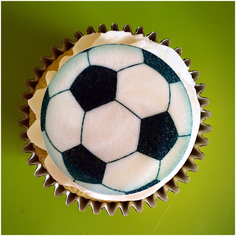 Football cupcake toppers | edible footballs | fathers day gift