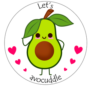 let's avocuddle cake topper | The village cake company