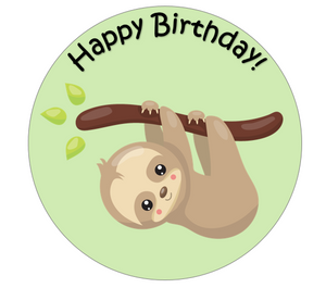 Baby Sloth Cake & Cupcake Toppers