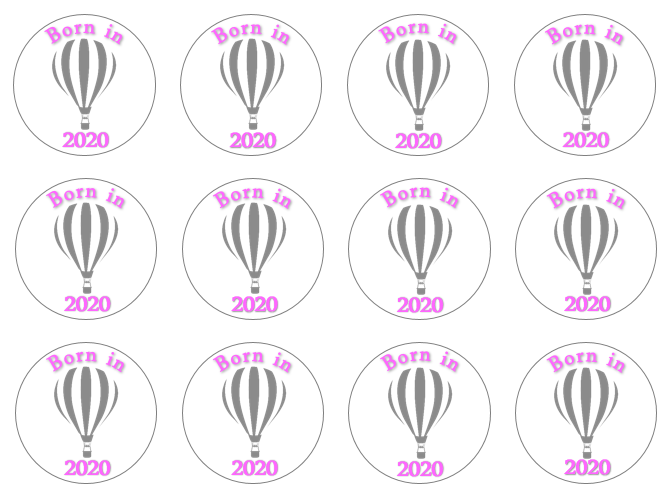 Born In 2020 Cupcake Topper