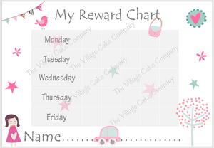 printable reward chart girls