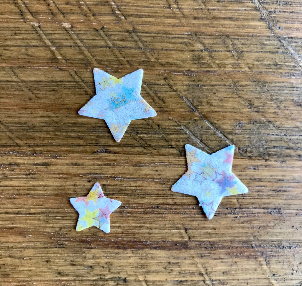 pre cut wafer paper stars for cupcakes