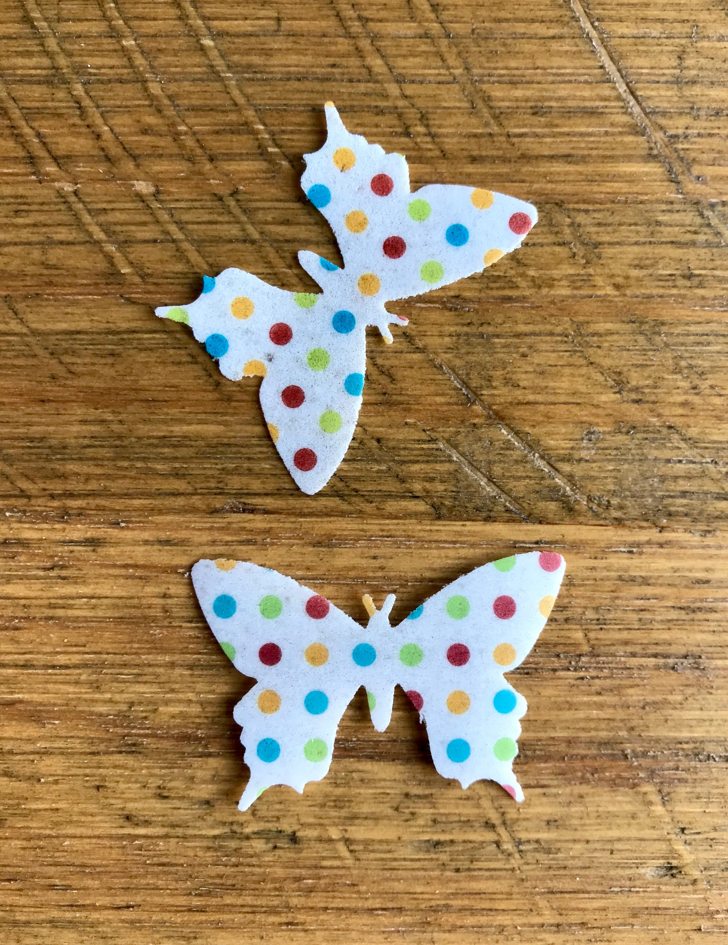 edible wafer spotty butterflies