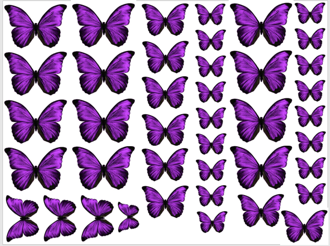 purple edible butterflies | wafer butterfly
