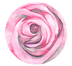 large cake topper with rose watercolour