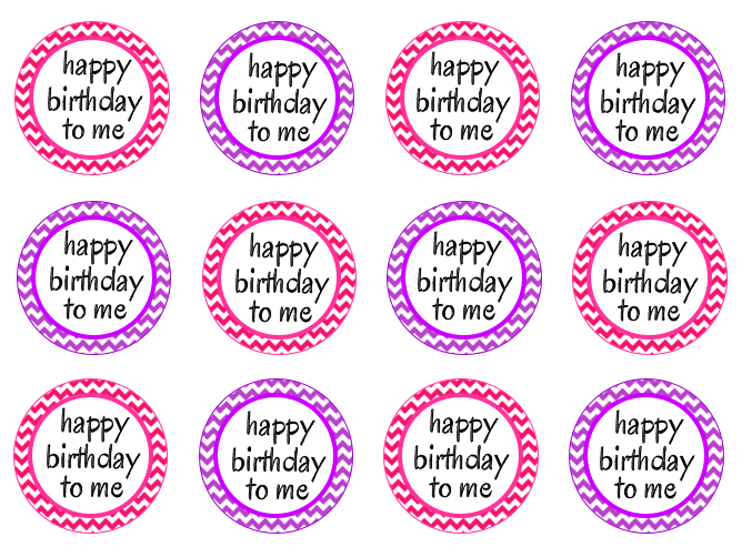 Happy birthday cupcake picks