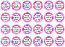 Zig zag cupcake toppers | pink and purple