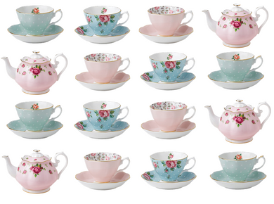 teacup cake topper | vintage teacups | edible cupcake toppers
