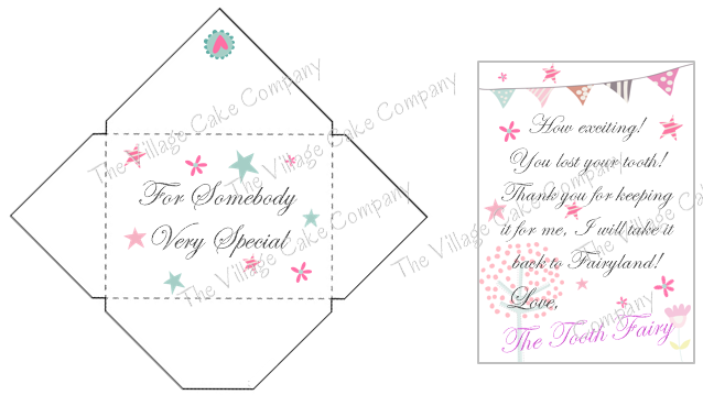 Tooth Fairy Mini Letter and Envelope printable